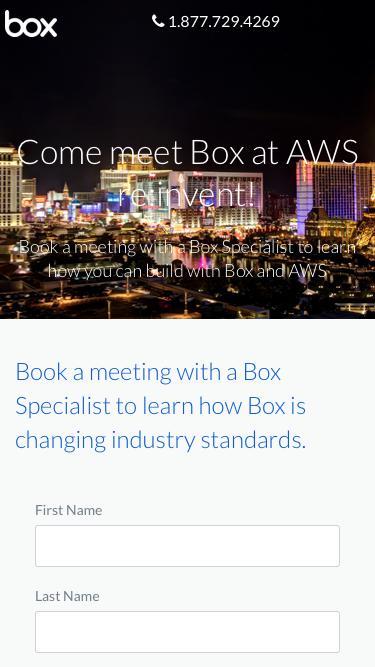 Meet Box at AWS re:invent