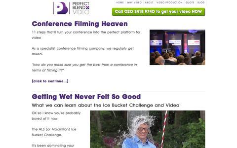 Screenshot of Blog perfectblendvideo.co.uk - Perfect Blend | Video Production & Marketing Blog - captured Sept. 29, 2014