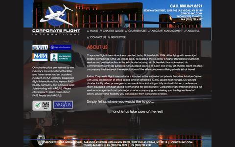 Screenshot of About Page cfi-inc.com - About Us - Corporate Flight International Inc. - captured Oct. 3, 2014