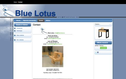 Screenshot of Contact Page bluelotus.eu - Contact - captured Sept. 30, 2014