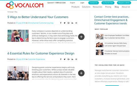 Screenshot of Blog vocalcom.com - Contact Center Blog - Tips, Resources, Guides and Articles - Page 3 - captured Dec. 11, 2018