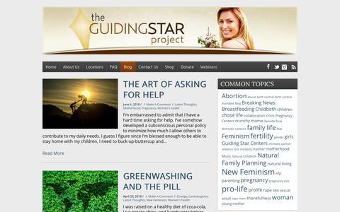 Screenshot of Blog theguidingstarproject.com - Blog - The Guiding Star Project - captured Nov. 7, 2018