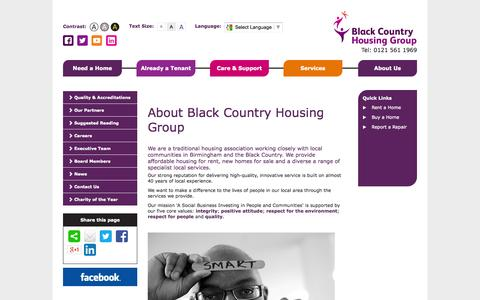 Screenshot of About Page bchg.co.uk - About Black Country Housing Group - captured Oct. 5, 2014