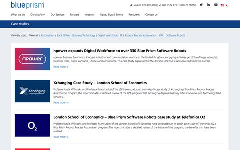 Case studies - Blue Prism