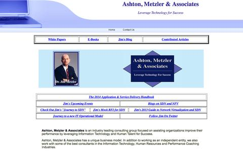Screenshot of Home Page ashtonmetzler.com - Ashton, Metzler & Associates - captured Oct. 4, 2014