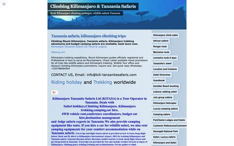 Screenshot of Home Page kili-tanzanitesafaris.com - Climbing Kilimanjaro & Tanzania Safaris   Book Kilimanjaro climbing packages, wildlife safaris Tanzania - captured Oct. 15, 2018