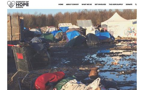 Screenshot of Press Page convoyofhope.eu - In The News – Convoy of Hope Europe - captured Jan. 31, 2016