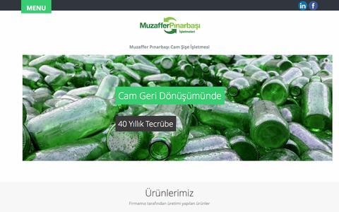 Screenshot of Menu Page muzafferpinarbasi.com.tr - MUZAFFER PINARBASI CAM SISE ISLETMESI - GLASS, PC and PET RECYCLING ENTERPRISES - Ana Sayfa - captured Oct. 7, 2014