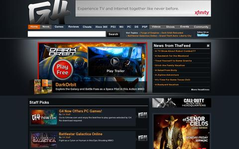 Screenshot of Home Page g4tv.com - Video Games, Game Reviews & News - G4tv.com - captured July 11, 2014
