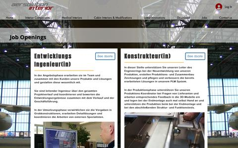 Screenshot of Jobs Page aersolution.com - JobsOpenings - captured Oct. 4, 2018