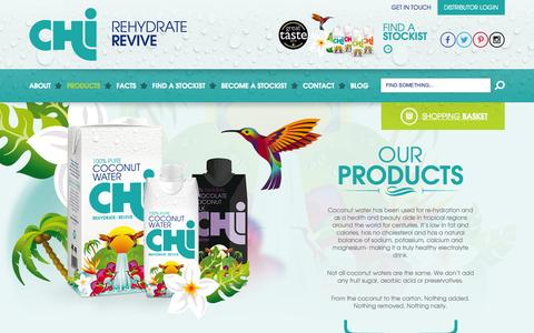 Screenshot of Products Page chilondon.com - Our Products | Chi Chi - captured Oct. 2, 2014
