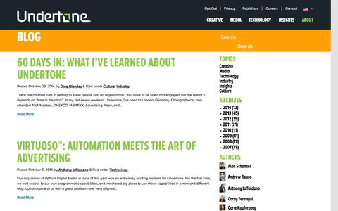 Screenshot of Blog undertone.com - Blog | Undertone - captured Oct. 30, 2014
