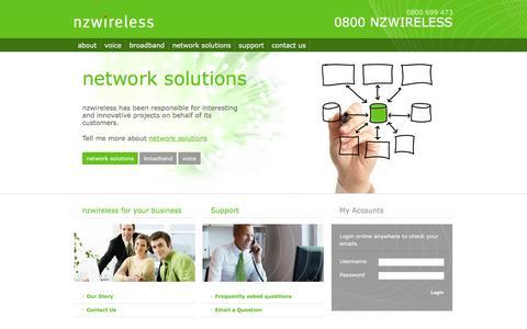 Screenshot of Home Page nzwireless.co.nz - nzwireless | nzwireless Limited - captured Feb. 16, 2016
