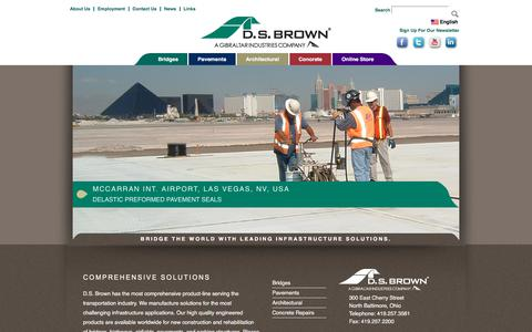 Screenshot of Home Page dsbrown.com - The D.S. Brown Company | D.S. Brown - captured Oct. 11, 2017