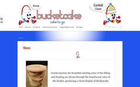 Screenshot of Home Page bucketcake.com - Bucketcake | Frozen Scoopable Cake to Go! | Bucketcake - captured June 3, 2017