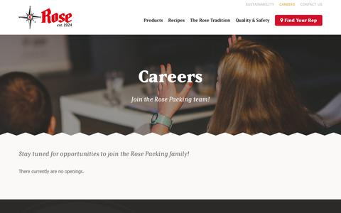 Screenshot of Jobs Page rosepacking.com - Careers - Rose Packing - captured Oct. 27, 2017
