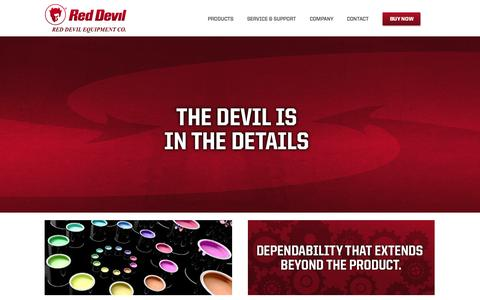 Screenshot of Home Page reddevilequipment.com - Home - Red Devil Equipment - captured Oct. 7, 2014