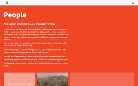Screenshot of Team Page enginegroup.com.au - Engine Group | Brisbane Advertising Agency, PR Agency | People - captured July 19, 2018