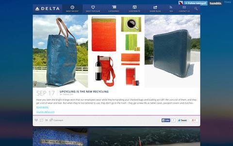 Screenshot of Blog delta.com - TAKING OFF  — Most Recent - captured Sept. 19, 2014