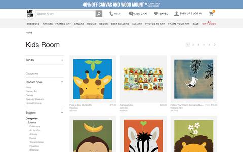 Kids Room, Posters and Prints at Art.com
