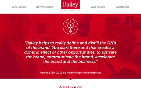 Screenshot of Case Studies Page baileygp.com - What we do – Bailey Brand Consulting - captured Oct. 9, 2017