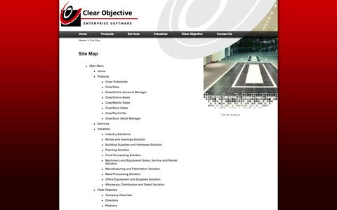 Screenshot of Site Map Page clearobjective.com.au - Site Map - Clear Enterprise ERP Software by Clear Objective Limited - captured Sept. 30, 2014