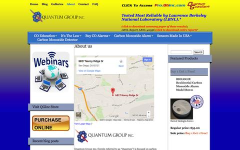 Screenshot of About Page qginc.com - About us - Quantum Group Inc. - captured Oct. 3, 2014