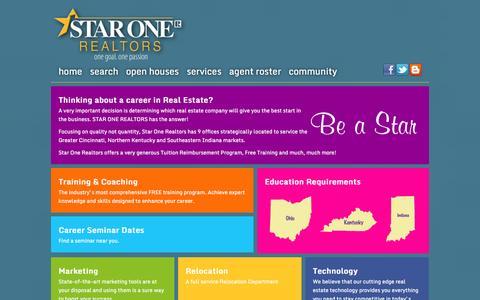 Screenshot of Jobs Page starone.com - Star One Realtors - captured Oct. 6, 2014