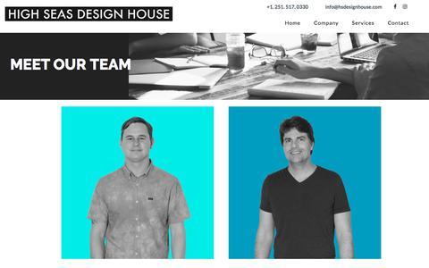 Screenshot of Team Page hsdesignhouse.com - Our Team   High Seas Design House - captured Feb. 12, 2018