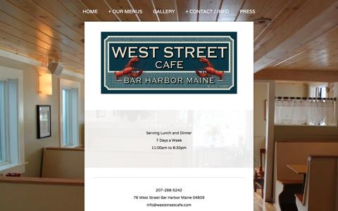 Screenshot of Hours Page weststreetcafe.com - Hours/Dates Open — West Street Cafe - captured June 24, 2016