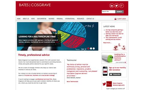 Screenshot of Menu Page batescosgrave.com.au - Bates Cosgrave | Business, international, personal accounting & tax - captured Oct. 29, 2014