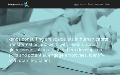 Screenshot of Home Page kenosconsulting.com - Kenos Consulting - captured Sept. 20, 2018