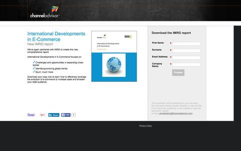 Screenshot of Landing Page channeladvisor.com - International Developments in E-Commerce | ChannelAdvisor - captured March 3, 2016
