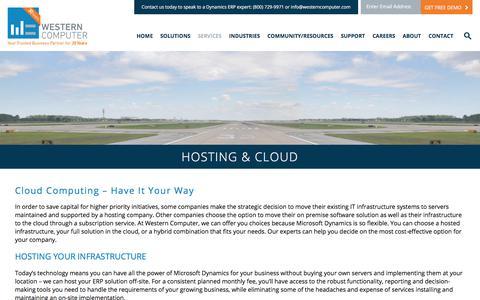 Hosting & Cloud | Western Computer | www.westerncomputer.com