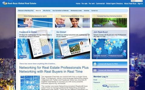 Screenshot of About Page real-buzz.com - Attract more buyers, more listings and more referrals with the - The global real estate marketplace - captured Sept. 23, 2014