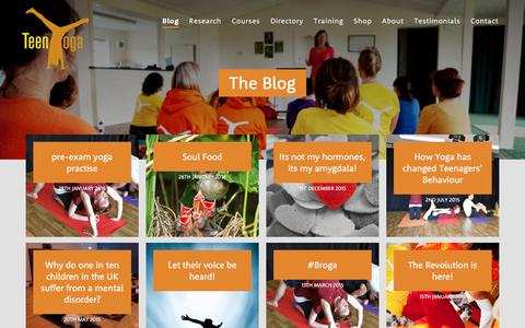 Screenshot of Blog teenyoga.co.uk - Blog | Teen Yoga - captured Feb. 14, 2016