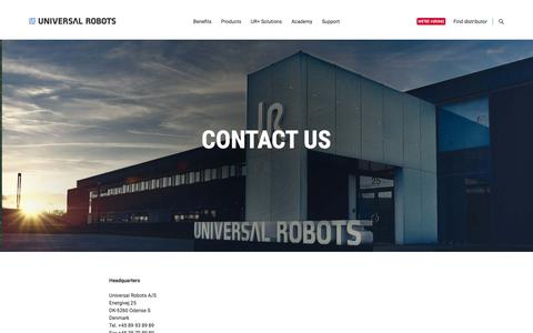 Contact info | Universal Robots | World wide offices