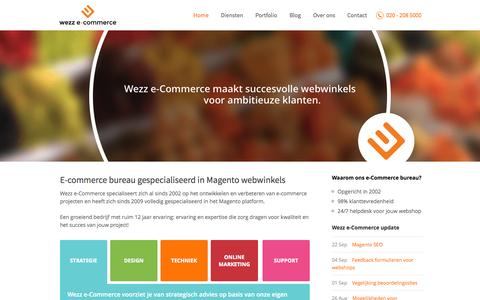 Screenshot of Home Page wezz.nl - E-commerce bureau Amsterdam | Wezz e-Commerce - captured Oct. 7, 2014