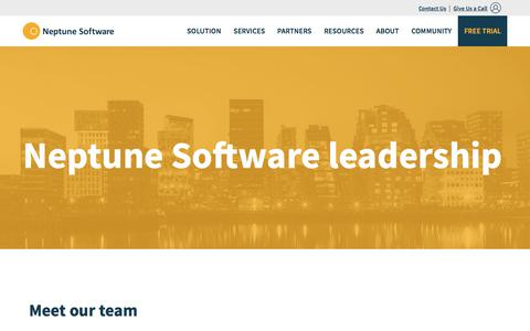 Screenshot of Team Page neptune-software.com - Our Leadership Team | Neptune Software - captured Feb. 2, 2018
