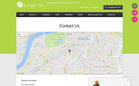 Screenshot of Contact Page thelongertail.co.uk - Contact us - The Longer Tail - captured Nov. 10, 2017