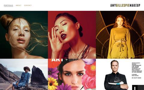 Screenshot of Home Page amygillespiemakeup.com - Amy Gillespie Makeup ArtistPortfolio - captured Oct. 3, 2018