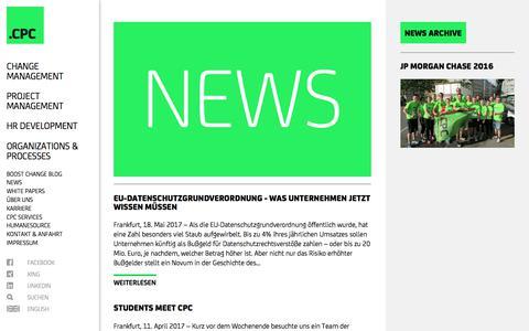 Screenshot of Press Page cpc-ag.de - CPC AG: News - captured July 9, 2017