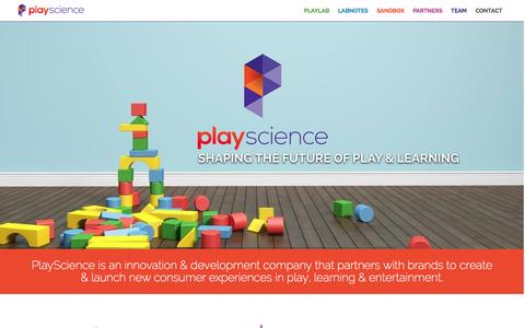 Screenshot of Contact Page playsciencelab.com - Home - PlayScience - captured Aug. 5, 2015