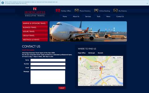 Screenshot of Maps & Directions Page horncastle.co.uk - Horncastle Executive Travel :: Directions - captured Oct. 2, 2014