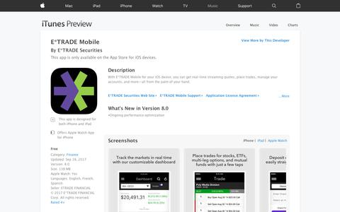 E*TRADE Mobile on the App Store