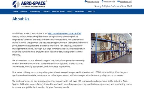 Screenshot of About Page ascs.com - About Us | Aero-Space Computer Supplies - Minneapolis, Minnesota | Aero-Space Computer Supplies - captured Oct. 3, 2018