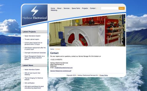 Screenshot of Contact Page harbourelectronical.com - Harbour Electronical Services - captured Oct. 3, 2014