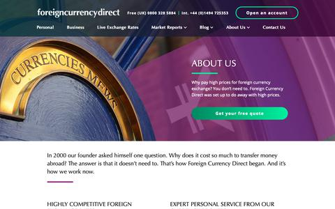 Screenshot of About Page currencies.co.uk - About us - Foreign Currency Direct - captured Oct. 10, 2018