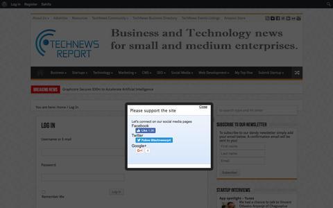 Screenshot of Login Page technewsrprt.com - Log In   TechNews Report - captured Nov. 29, 2016