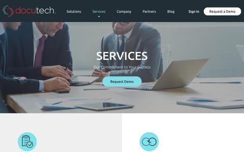 Screenshot of Services Page docutech.com - Docutech l Document Services Overview - captured Aug. 7, 2018